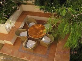Rondom de villa vindt U meerdere zitjes dus altijd een heerlijk plekje in de schaduw