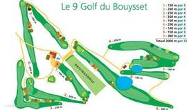 Map of the 9-hole golf course.