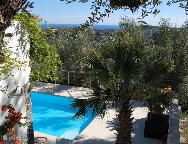 Vakantiehuis Italië, Ligurië, Civezza - villa Casa Riviera (tussen olijfbomen, uit