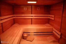 Sauna in Betrieb