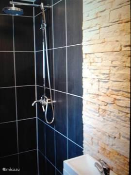Badkamer met douche op de bgg.