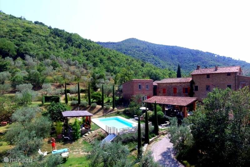 Vakantiehuis Italië, Toscane, Castiglion Fiorentino Vakantiehuis Casale le Colonne, Il Tramonto