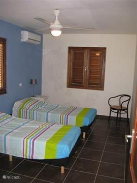 All bedrooms have 2 single beds that can also serve as a double bed. Each bedroom has air conditioning, bathroom and closet space.