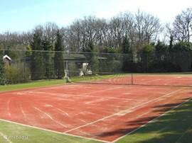 All weather tennisbaan op het park onbeperkt gebruik met uw pasje.