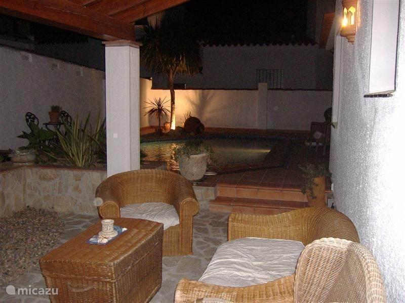 Lounge terras, heerlijk genieten.