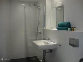 Ieder slaapkamer beschikt over eigen sanitair met douche, wastafel en toilet.