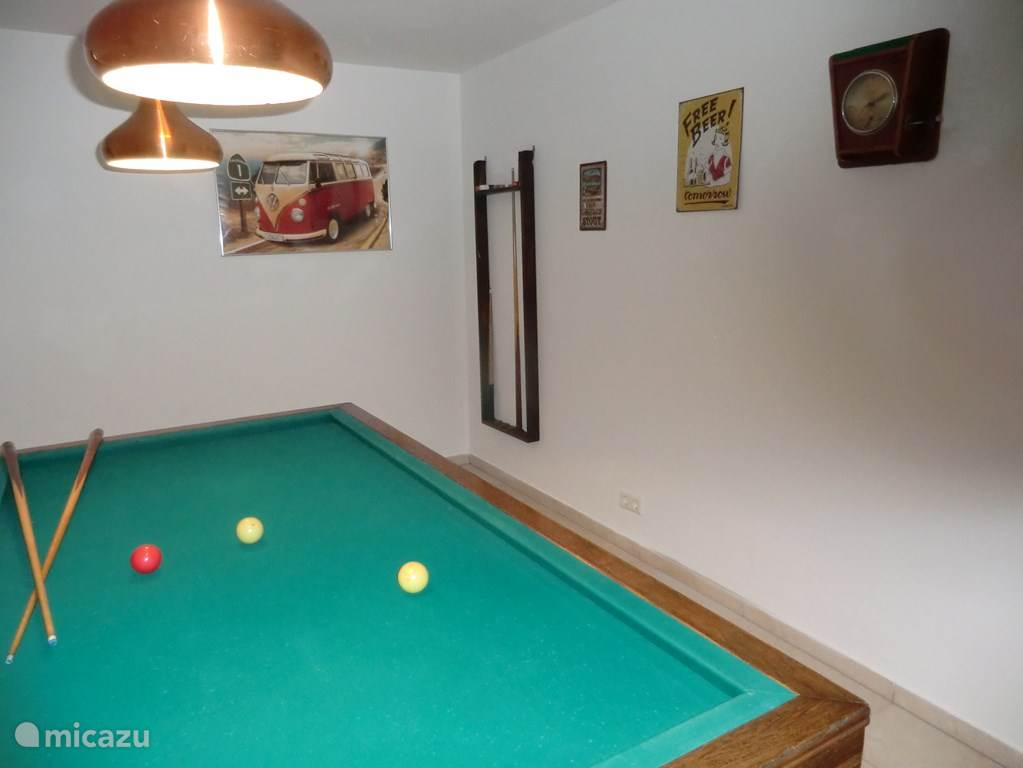 In the basement there is a billiard room.