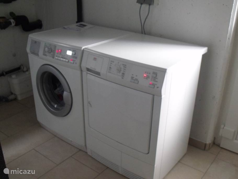 The washer and dryer.