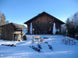 Niet alleen zomer's maar ook in de winter is het gezellig bij de Odenhutte! Zeker een bezoekje waard!