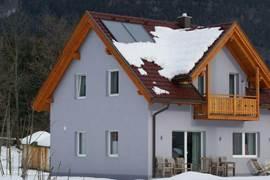 De villa in de sneeuw.