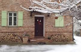 Het huis in winterse sferen