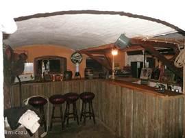 Bar in the basement.