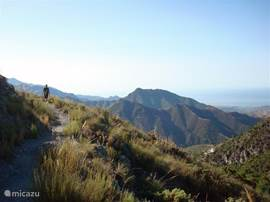 In de omgeving van Cómpeta kan je prachtig wandelen, met de Middellandse Zee als decor.