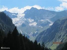 Gletscher aan het eind van het Stilluptal.