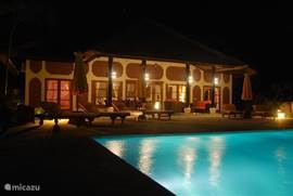 Villa Cerah, Bali at night.