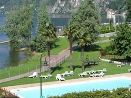 lekker zwembad voor een verfrissende duik of lekker zonnen op de ligstoelen of op het gras.