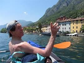 lekker met de kano varen op het lugano meer