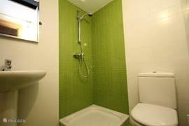 2de badkamer met douche, toilet en wastafel