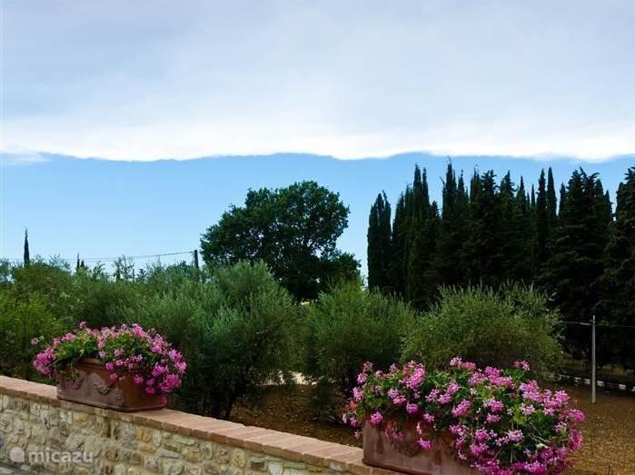 Vergezicht op de toscaanse heuvels