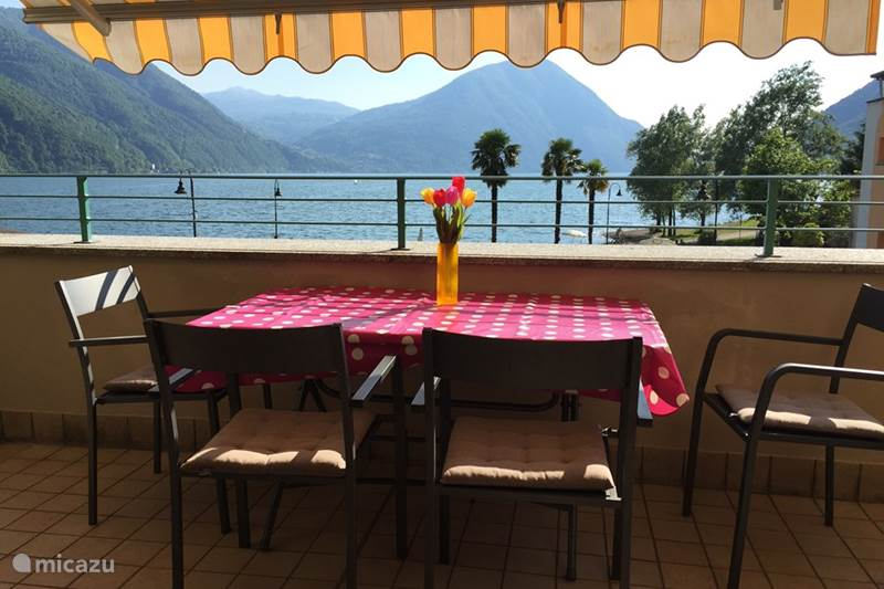 Vakantiehuis Italië, Italiaanse Meren, Porlezza Appartement Porto Letizia P7, meerzicht Lugano