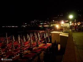 Alassio, strand by night.