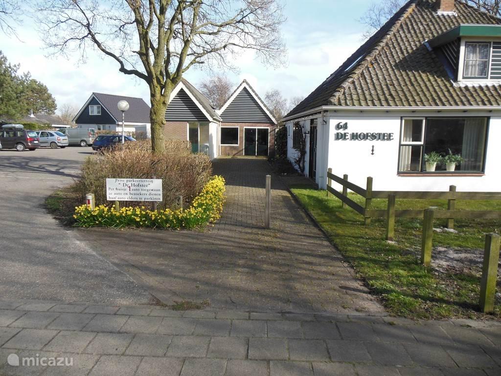 De ingang van ons park de Hofstee.
