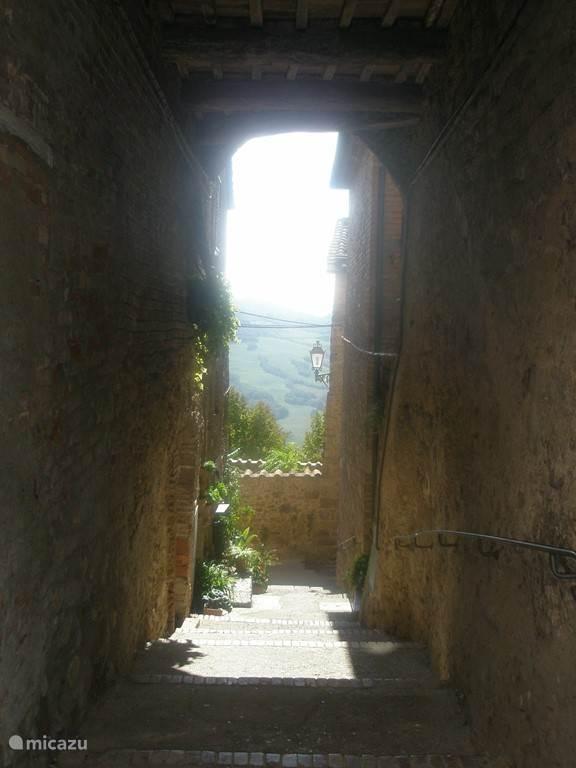 Een doorkijkje naar de vallei.