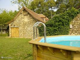 The above ground pool in the garden of 1700m2.