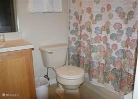 De tussen-badkamer op de eerste verdieping.