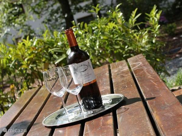 Enjoy a glass of wine on the large tiled terrace
