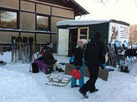 Skiing, cross-country skiing, snowboarding and sledding