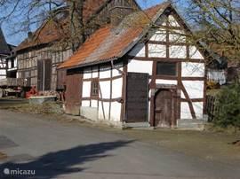 Oud vakwerkhuisje in Sudeck