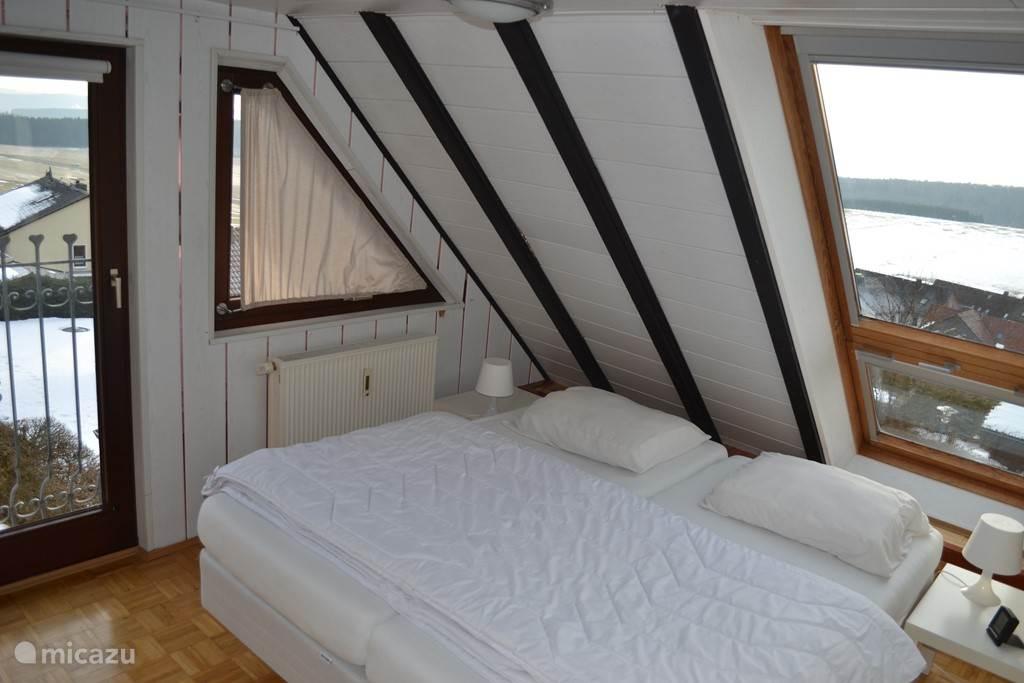 Slaapkamer rechtsboven met 2x 1 pers.bed