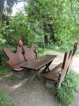 The Ruby bench of Liebesbankweg.