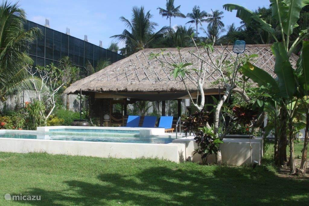 zwembad 8x4 meter 1,5 meter diep en zwembadje voor de kleintjes