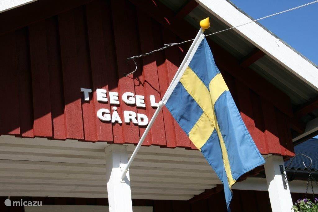 De naam van het vakantiehuis: Teegelgård