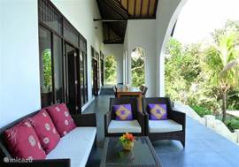Veranda with lounge.