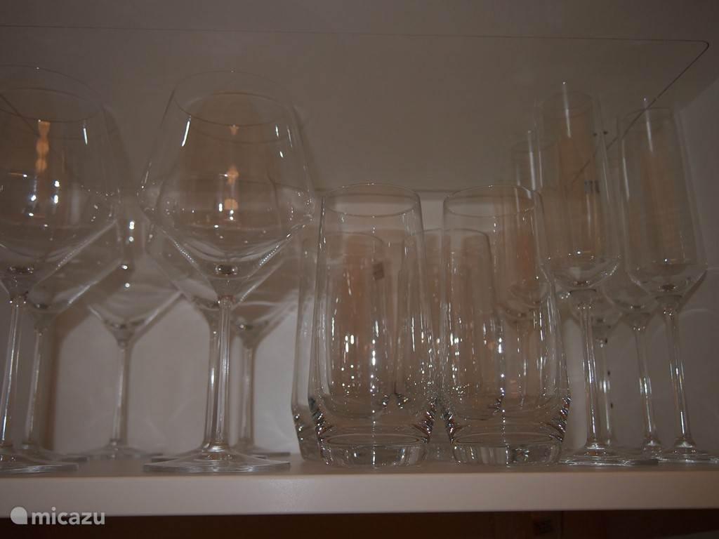 Voor iedere drank het juiste kristallen glas.