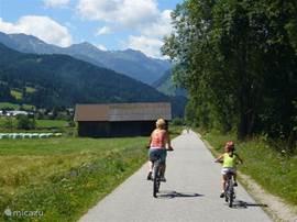 Mountain bikes zijn te huur, dus op de pedalen.... In Spittal an der Drau kun je met de mountain bikes in de gondel naar boven om vervolgens af te dalen.