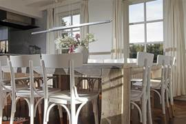 Kitchen with large dining area for 14 people