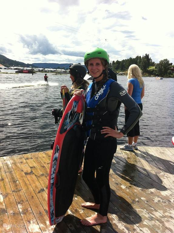 Wakeboard/ waterskibaan in Norsjo