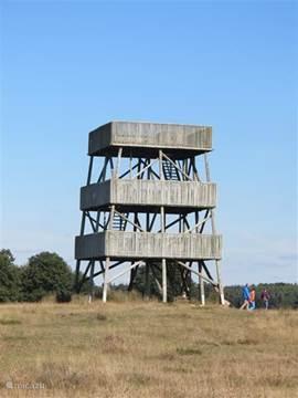 De uitkijktoren op het Aeckingerzand