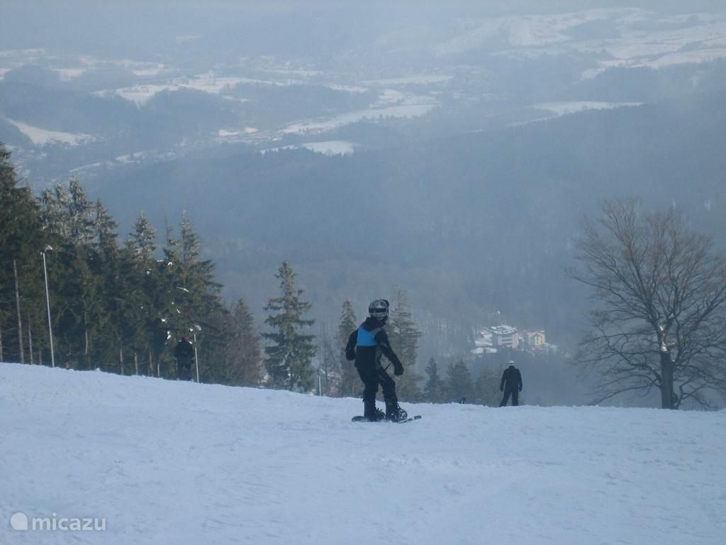 Ook snowboarden super leuk in Janske Lazne Kerst 2014