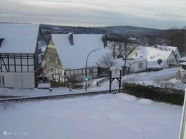 Uitzicht vanaf de slaapkamers in winter