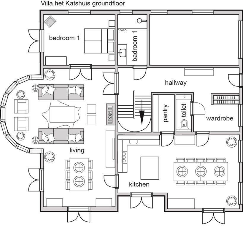 Villa villa het katshuis in noordwijkerhout zuid holland for Huis inrichten op schaal