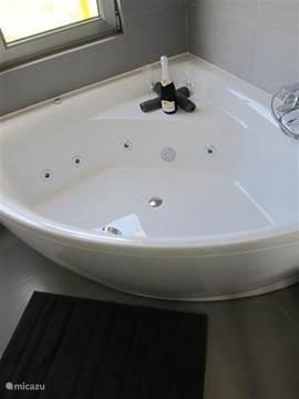 Het luxe-massagebad in de badkamer