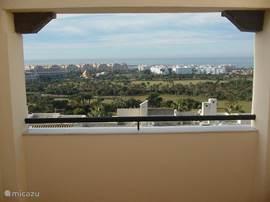 Uitzicht van het bovenste terras.