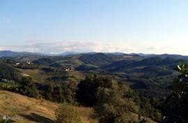Panoramische uitzichten tijdens wandel of fiets of autotochtjes