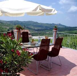 Privé terras met panoramisch uitzicht