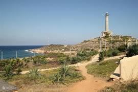 De vuurtoren is een begrip in Cabo de Palos.